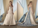 twin color bridal gown by Alfred Angelo 2014