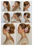 Long hairs updo for wedding