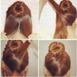 Simple updo tutorial for hairs