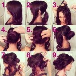 Updo hairstyles for long hairs