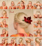 Updo hairstyles for long hairs 2014