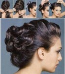 Vintage updo hairstyle for long hairs