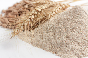 Wheat flour for acne scar treatment