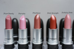 Brown MAC lipstick swatches 2014