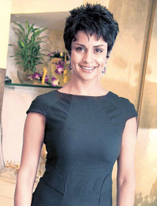 Gul Panag short spiky hairstyle for women