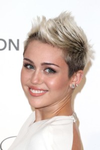 Miley cyrus new short spiky haircut for women