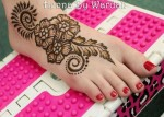 beautiful henna designs for feet
