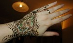 simple glitter mehndi designs for hands 2014