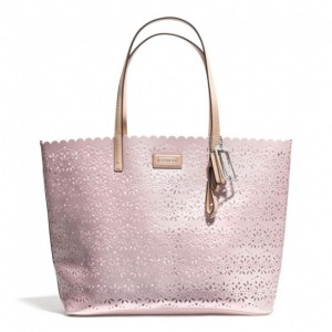 Coach metro eyelet toteleather handbag for women