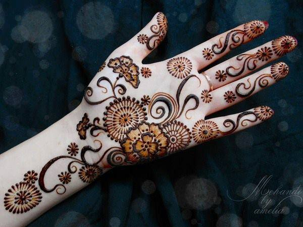 Simple Mehndi For Right Hand : 50 simple mehndi designs for eid 2014