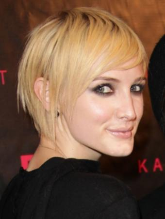 Ashlee Simpson new short hairstyle for women