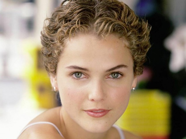 Keri Russell short curly pixie for women