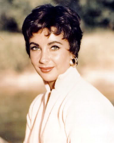 elizabeth-taylor cropped pixie hairstyles of 1950