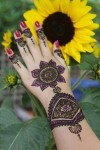 glitter henna designs for girls