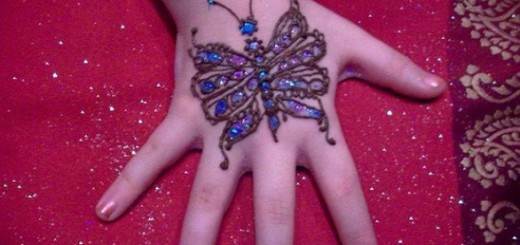 glitter mehndi designs for kids