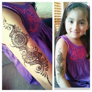 new mehndi designs for kids 2014