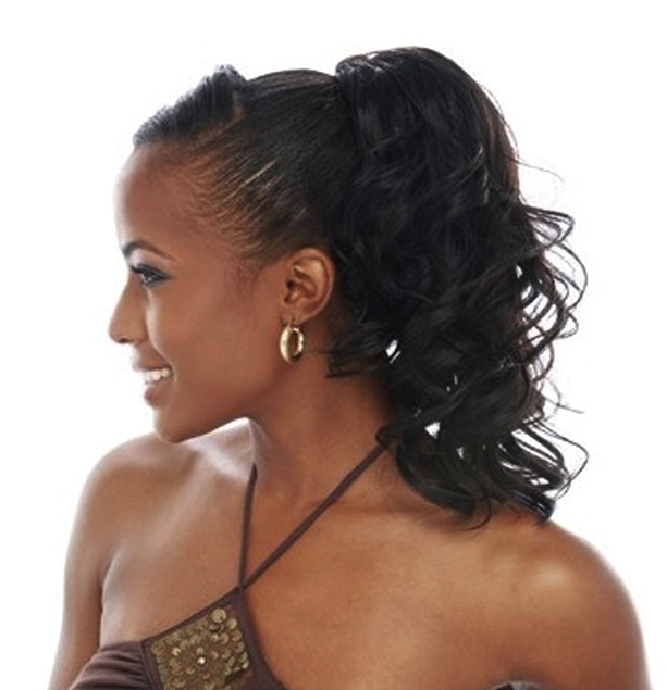 Ponytail hairstyles for black women 2014