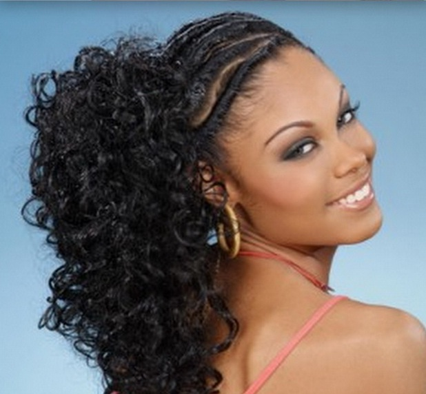 twist ponytail hairstyles for black women
