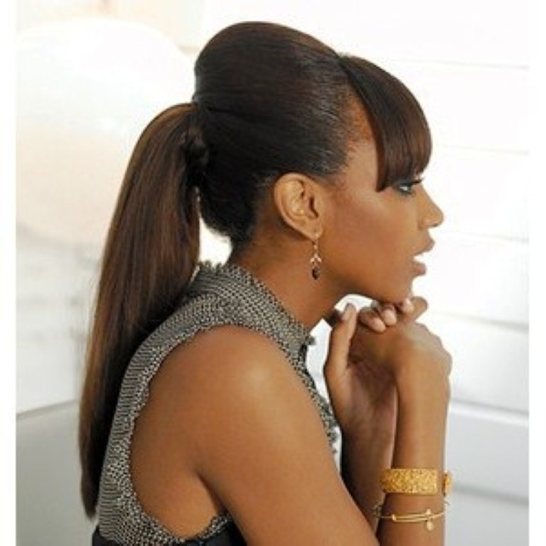 sleek ponytail for black women 2014
