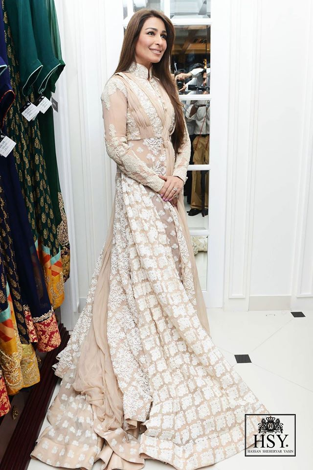 Party wear frock designs by HSY 2014
