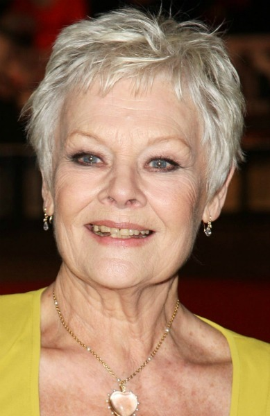 judi dench easy short hairstyles for women over 60