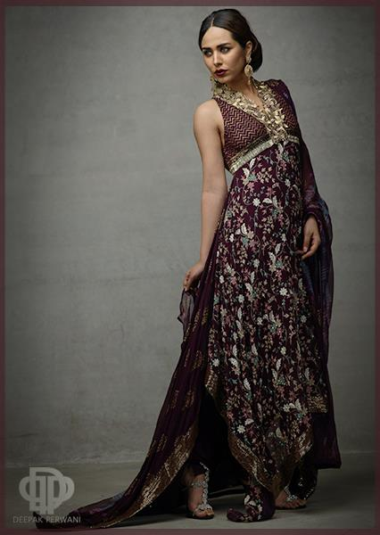 latest forck designs by deepak perwani 2014