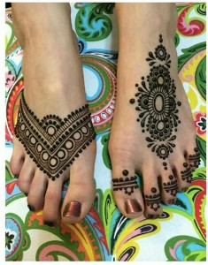 Mehndi designs for feet 2015