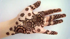 Full hand flower mehndi designs