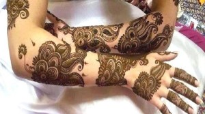 Mehndi for arms for girls