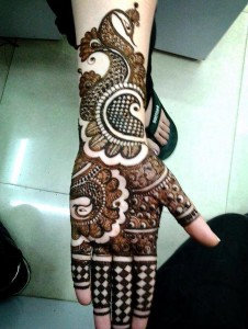 Full hand and arm mehndi pattern