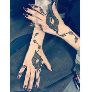 Mehndi for hands and arms
