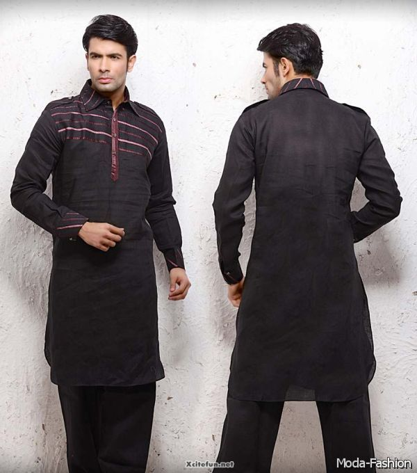 Elegant Kurta Designs Collection for Men 2015