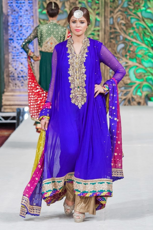 Latest party wear frock designs 2015