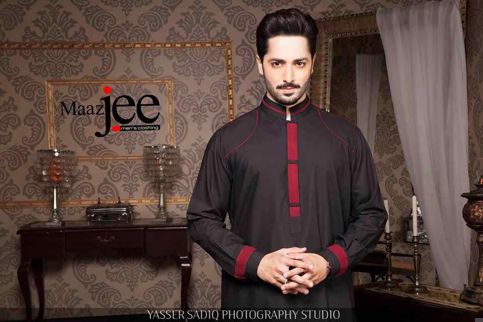 Stylish Black Kurta Shalwar Design for Men