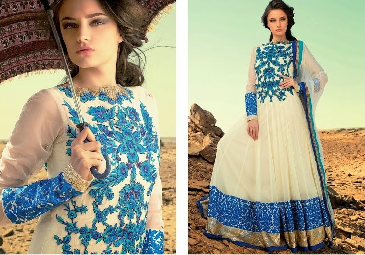 Trendy Pakistani frock designs 2015